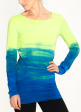 Flow Tunic - Front in Lime Bright Sky