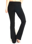 Fold Over Waist Flow Pant - Front in Black