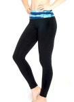 Flow Legging - Front in Cool Marine