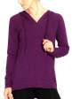 Round Tail Hoodie - Front in Detox Berry