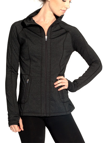 EcoTech Jacket - Front in Charcoal Heather