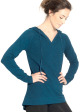 Round Tail Hoodie - Front in Navy Ocean